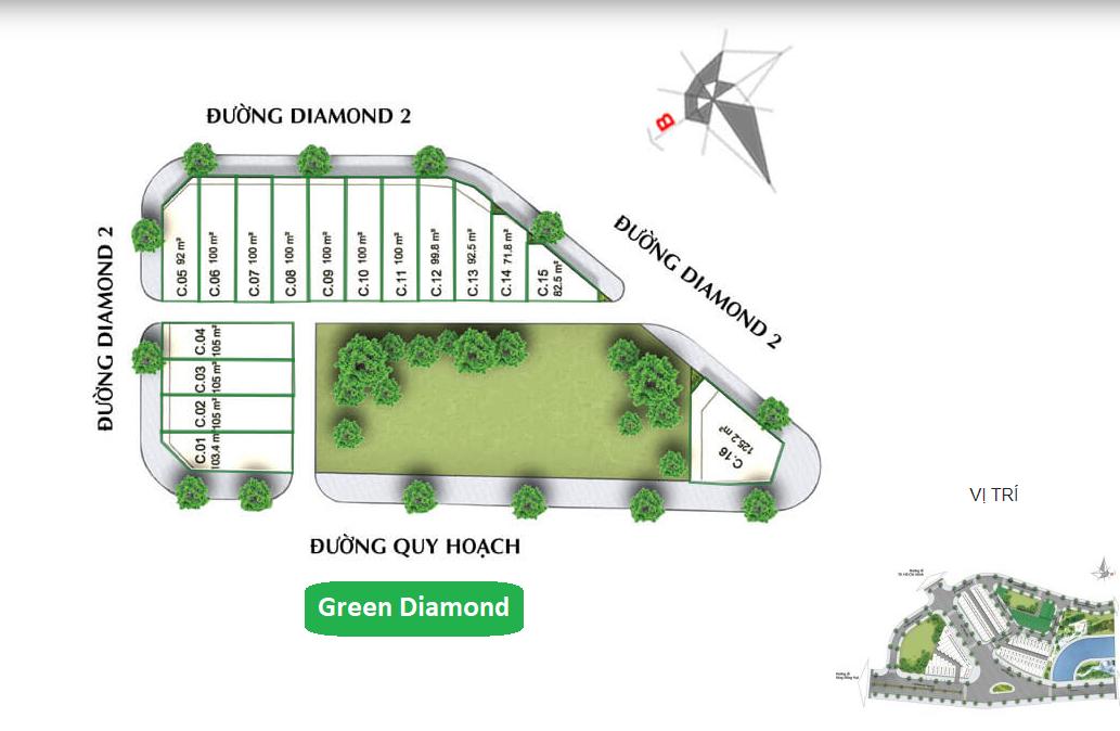 Diamond Central Biên Hòa - Nhà Phố Green Diamond
