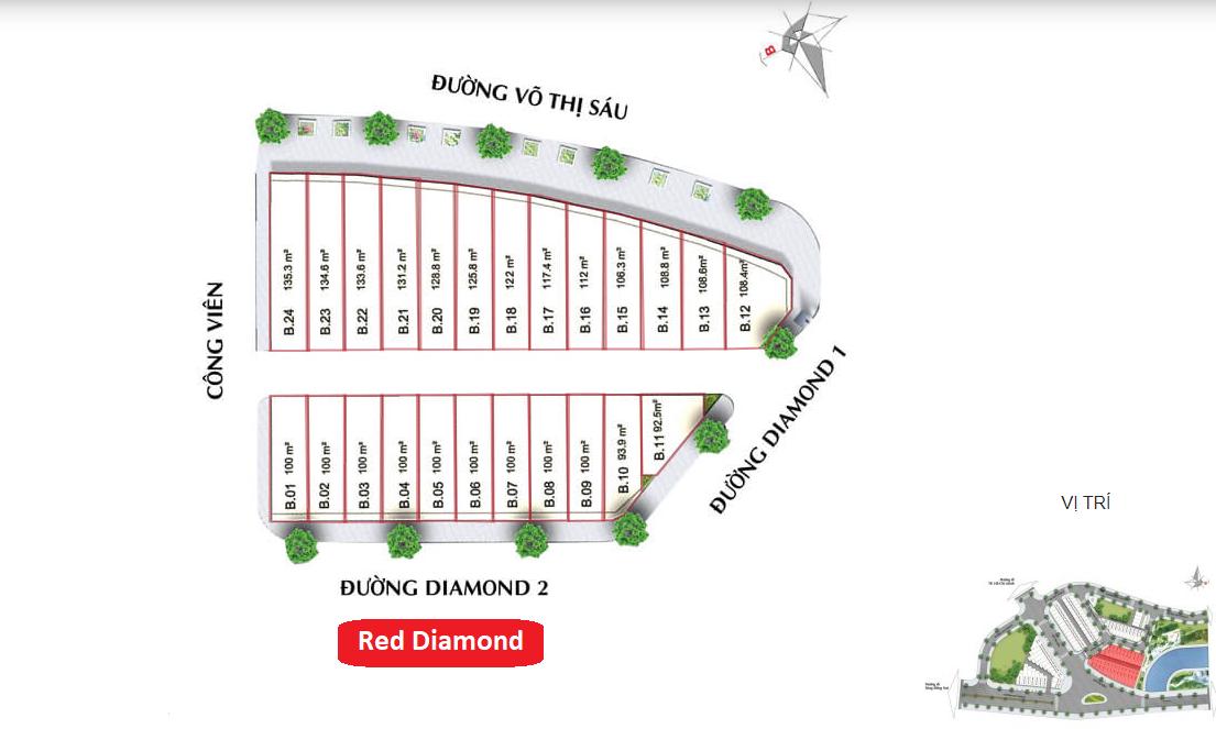 Diamond Central Biên Hòa - Nhà Phố Red Diamond